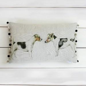 Eddie & Teddie Jack Russell Cushion - Voyage Maison
