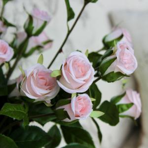 Cottage Pink Short Stem Artificial Rose