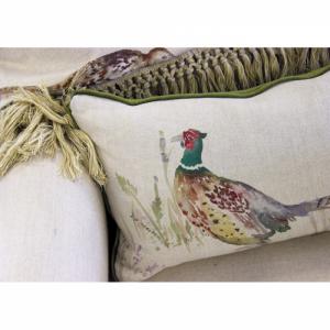 Small Pheasant Cushion - Voyage Maison