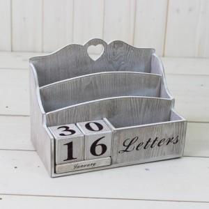 Lime Washed Letter Rack