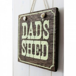 Wooden Hanging 'Dads Shed' Sign