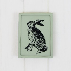 Sage Painted Dandy Hare Plaque Picture