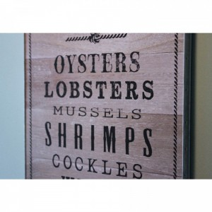 Wooden Fresh Seafood Plaque