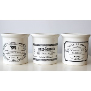 Vintage French Ceramic Pots - 3 Styles Available - Lily&Moor Home Decor