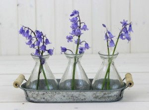 Tray With Three Bottle Vases - Home Decor by Lily & Moor