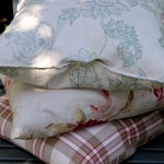 Feather filled linen scatter cushions with beautiful patterns