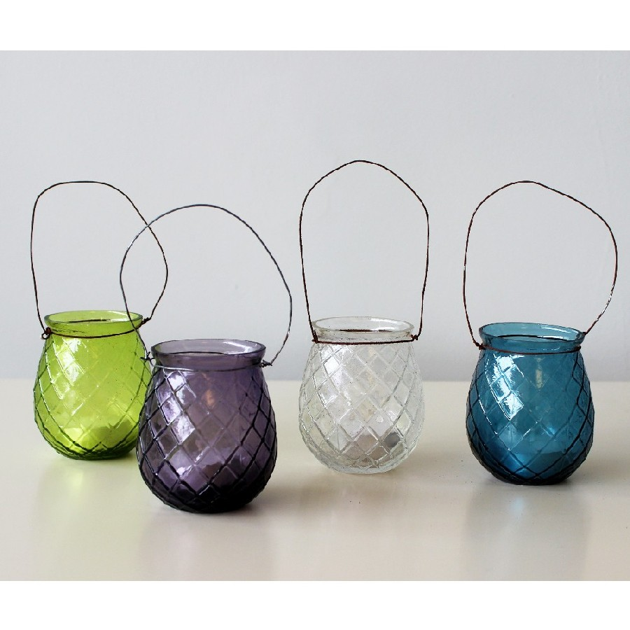 Glass Hanging T-light Holders - Lily&Moor Home Decor