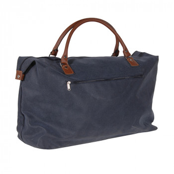Blue & Tan Overnight Bag