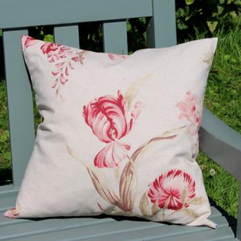 Vintage Floral Linen Cushion