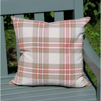 Check Linen Cushion