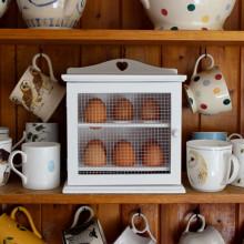 White Wooden Egg Cabinet