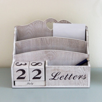Wooden Calender & Letter Rack