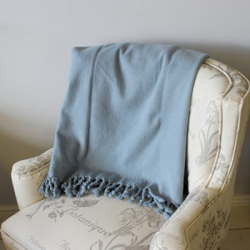 Blue Duck Weave Cotton Throw