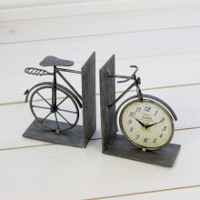 Bicycle Clock Bookends