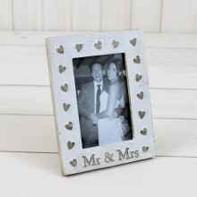 'Mr & Mrs' Portrait Frame