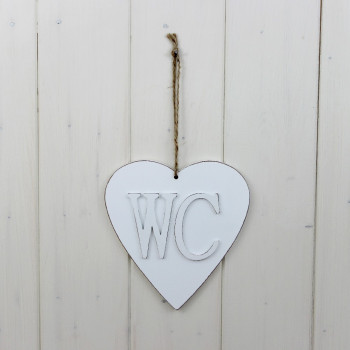 White 'WC' Sign