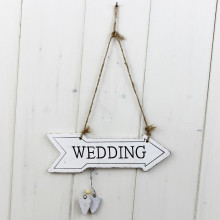'Wedding' Arrow Sign