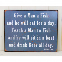 'Give a Man a Fish' Sign