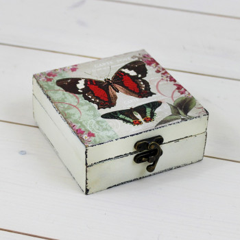 Small Red Butterfly Box