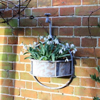 Large Rustic Hanging Tap Planter