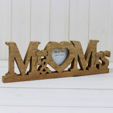 Mr & Mrs Wooden Frame
