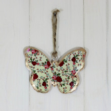 Vintage Hanging Yellow Butterfly