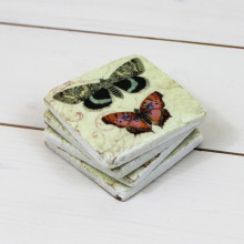 Rustic Butterfly Coasters