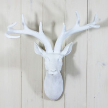 Small White Stags Head