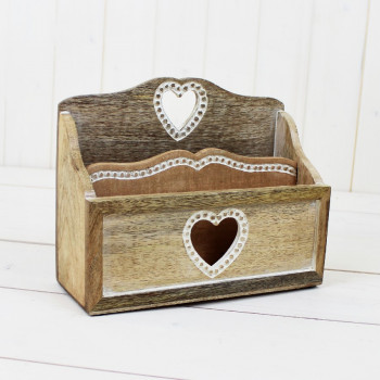 Beaded Heart Letter Rack