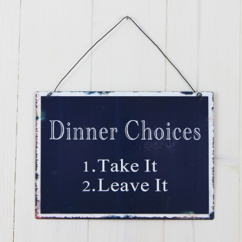 Dinner Choices Sign