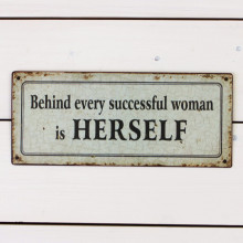 'Successful Woman' Sign