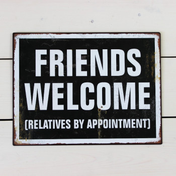 Friends Welcome Sign