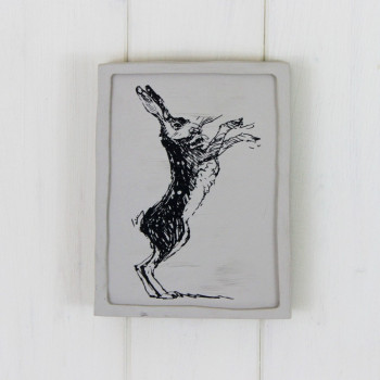 Boxing Hare Plaque