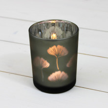 Large Glass Leaf T Light Holder