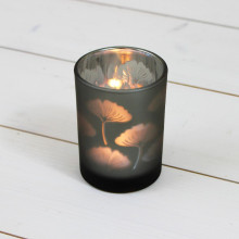 Medium Glass Leaf T Light Holder