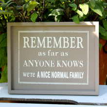 'Normal Family' Plaque