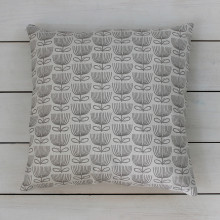 Funky Floral Light Linen Cushion