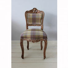 Heather Tweed Bedroom Chair