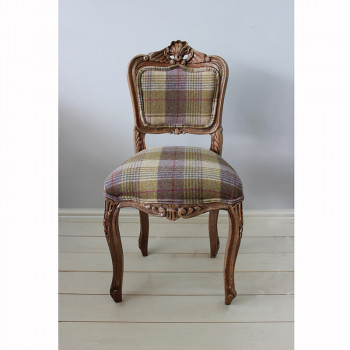 Heather Tweed Bedroom Chair