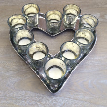 Heart Tray & Mercury Tealight Holder
