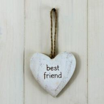 'Best Friend' Wooden Hanging Heart
