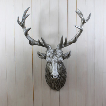 Large Silver Stag Trophy