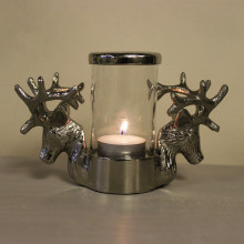 Nickel Stag Tealight Holder
