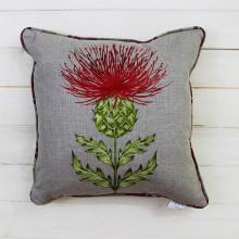 Holly Thistle Cushion