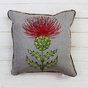 Holly Thistle Cushion